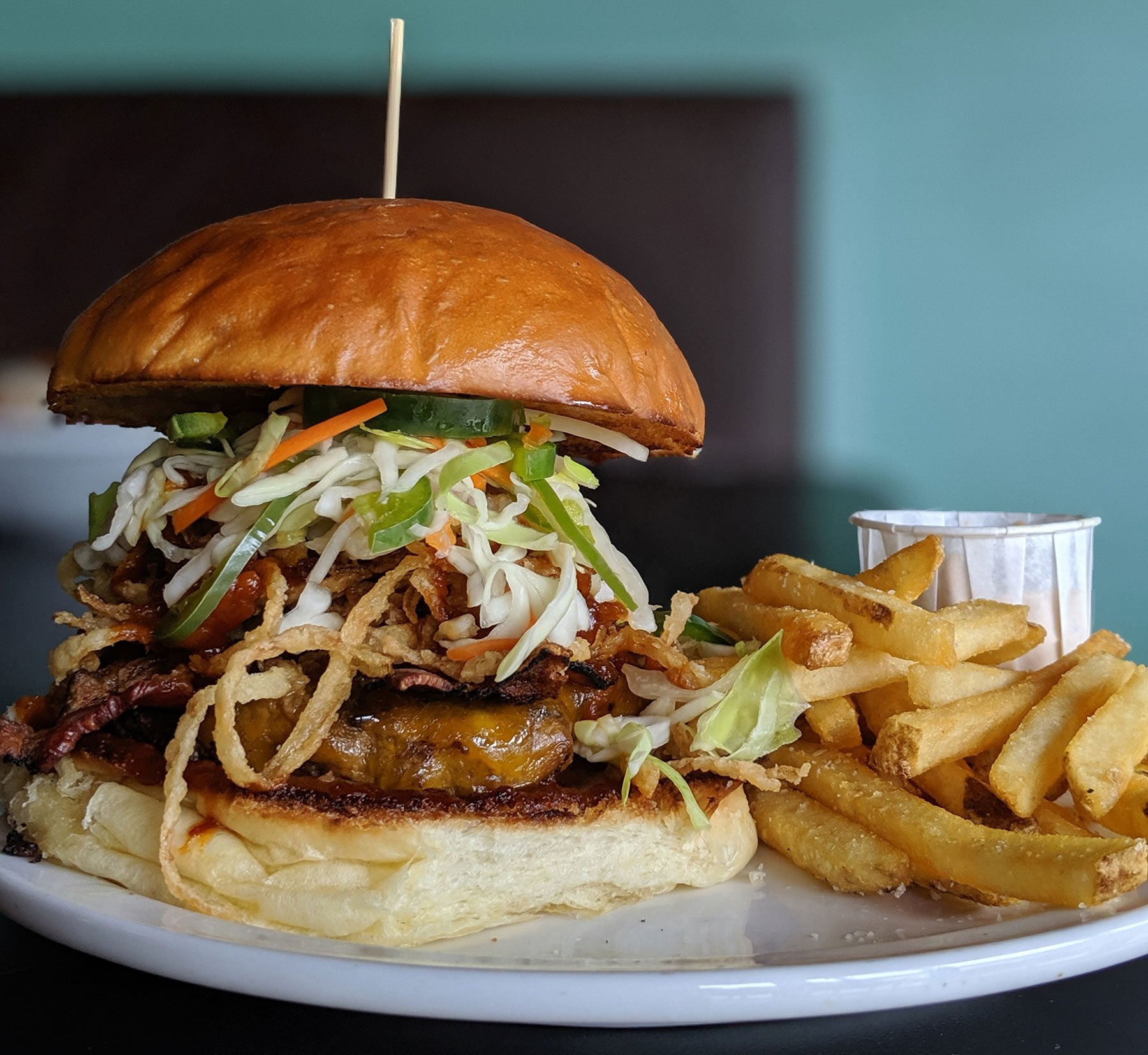 vegan burger, thunderbird bar, portland oregon